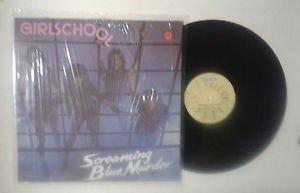 """Girlschool """"Screaming blue murder"""" LP BRONZE BROL 34541 Italy 1982 NM/NM"""