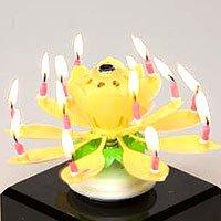 The Amazing Happy Birthday Candle - YELLOW