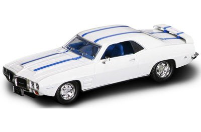 Yatming Road Signature - Pontiac Firebird Trans Am Hard Top (1969, 1/43 scale diecast model car, White w/ Stripes) 94238 diecast cars toy vehicles motorcycles movies - 1