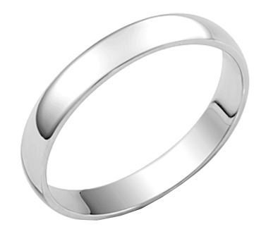 3mm D Section Silver Wedding Band Ring Size O