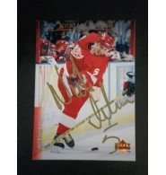 Signed Lidstrom, Nicklas (Detroit Red Wings) 1995 Upper Deck Hockey Card autographed