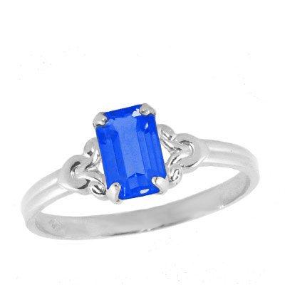 Girls Jewelry - Sterling Silver September Birthstone Ring (size 4)
