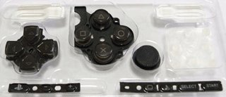 Sony PSP 3000 Series Button Set - Black [customize] [repair part] [video game]