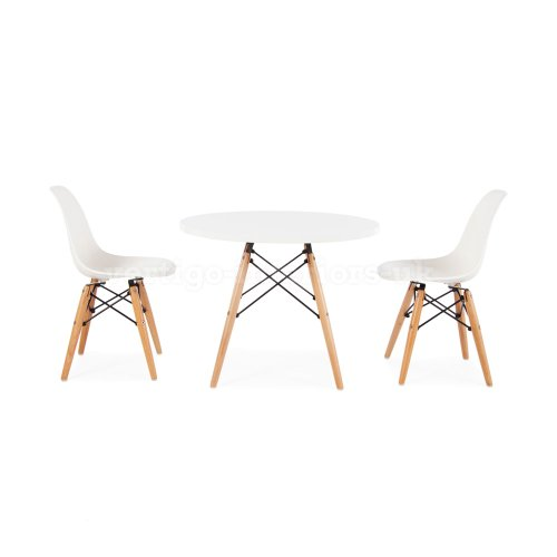 How Do You Want Eames Style Kids Round White Table 2 Kids