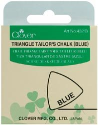 Clover Triangle Tailors Chalk Blue 432-B; 3 Items/Order