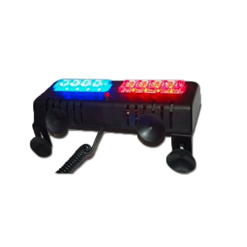Blue And Red Ex-04 Led Dual Visor Strobe
