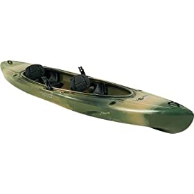 Old Town Canoes & Kayaks Twin Heron Angler Recreational Fishing Kayak Camo