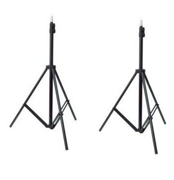Ex-Pro - [ 2 PACK] 2 x Professional Photography Light Stand for Photo Studio Photolamps, Lighting, Lamps, Deflectors, Umbrellas, Difusser etc. Includes Carry Bag. [ 2 PACK]
