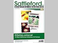 Sattleford lot de 25 étiquettes sur feuilles a4 210 x 297 mm pour imprimante laser et à jet d'encre