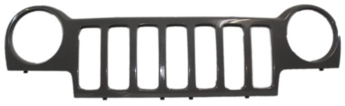 Jeep Liberty 02-04 Grille Gray W/O Insert (Jeep Liberty Grill compare prices)