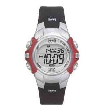 Timex 1440 Sports Full Size Digital Watch &#8211; Silver/Black