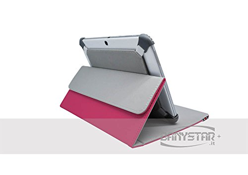 Custodia Cover Universale / Regolabile 10'' per Tablets come ARCHOS Arnova 9 G2 , MEDIACOM Smart Pad 1010i , Samsung Galaxy Tab 2 P5100 , HAMLET Zelig Pad 970H , HAMLET Zelig Pad 970H2 , HAMLET Zelig Pad 210 / 210G, HAMLET Zelig Pad 970H 3G , HAMLET Zelig Pad 410 / 410S , TREKSTOR SurfTab Ventos 10.1 , Mediacom Smart Pad 102 S2 , Archos 101 Titanium , ASUS MeMo Pad Smart ME301T-1A072A , ASUS MeMo Pad Smart ME301T-1B043A , ARCHOS 97 Xenon , ASUS Vivo Tab RT TF600T , Microsoft Surface , etc. (Fucsia) - Acce