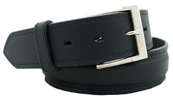 "Men's Dress Belt 1 1/2"" English bridle leather raised dress belt. Black, Size 30"