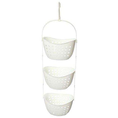 hensych® 3étages en plastique Caddy de Douche de bain de rangement à suspendre organiseur de douche