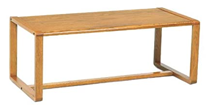 Contour Full Back Coffee Table Finish: Mahogany