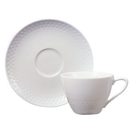 Noritake(ノリタケ) ファインポーセレン リズモホワイト ティー・コーヒー碗皿 (1客) T5389L/1610