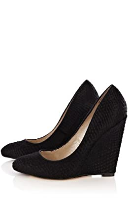 Snake Embossed Wedge
