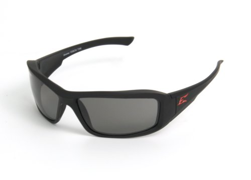Edge Eyewear TXB236 Brazeau Safety Glasses, Black Torque Series with Polarized Smoke Lens (Edge Safety Glasses Polarized compare prices)
