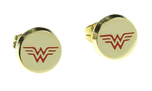 DC Comics Wonder Woman Logo Stud Earrings (Wonder Woman Merchandise compare prices)