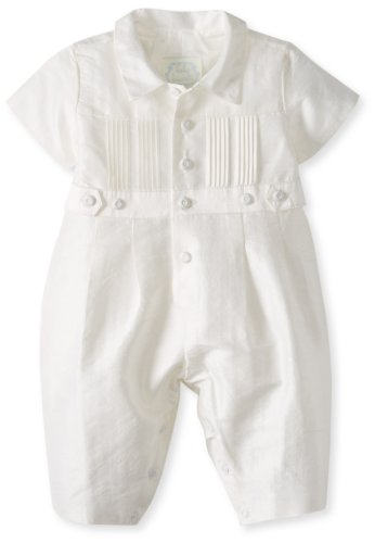 Best Price Biscotti Baby-Girls Newborn Cherished Heirloom Boy Silk Romper, White, 3 Months  Best Offer