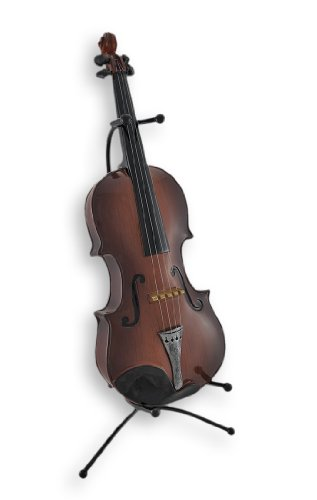 Classical Violin Statue Coin Bank with Stand - 1