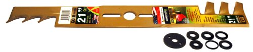 Maxpower 331981S 21-Inch Universal Gold Metal Mulching Lawn Mower Blade