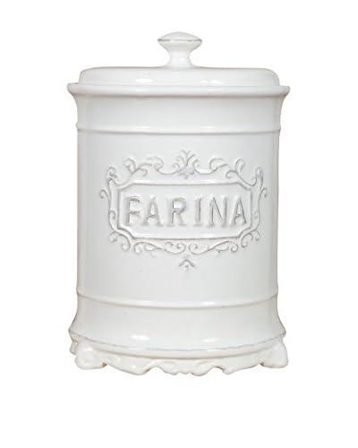 ARREDO WHITE Barattolo Farina Bianco 16 x 24.5 x 16 cm