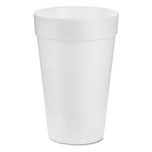"Dart 20J16 3.7"" Top & 2.4"" Bottom Diameter, 6.1"" Height, Big Drink Foam Cup, 20 oz, (1 Pack of 25)"