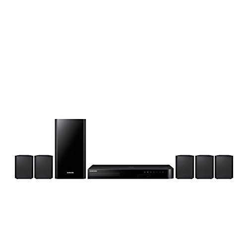 Samsung HT-J4500RF Bluetooth 3D Multi Region Free 5.1-Channel Blu Ray DVD Home Theater Speaker System with HDMI Cable, 110-240V