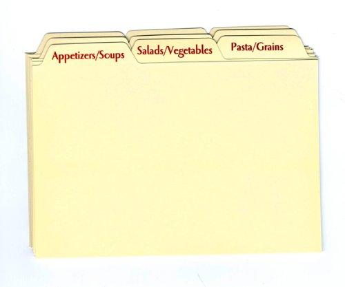 Recipe Card Box Tab Divider Set (Recipe Box Dividers 4x6 compare prices)