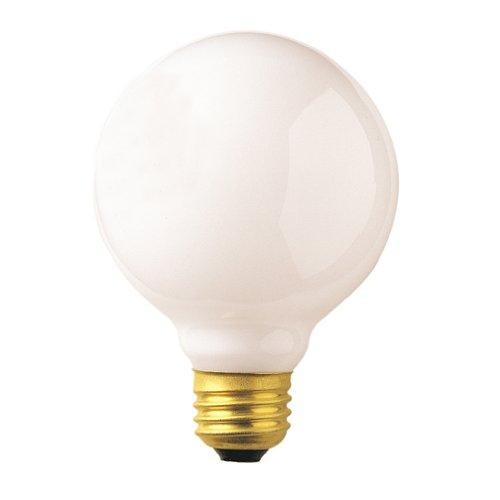Bulbrite 40G25WH2-8PK 40W G25 Globe 120V Medium Base Light Bulb, White, 8-Pack (40 Watt Bathroom Lightbulbs compare prices)