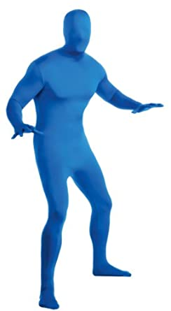 BLUE - 2nd Skin Full Body Spandex Zentai Jumpsuit Adult Unitard Costume 880512