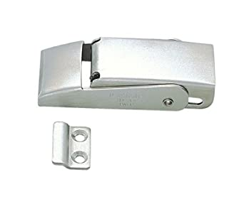 "Stainless Steel 304 Spring Loaded Draw Latch, Satin Finish, Non Locking, 3 5/32"" Length (Pack of 1)"