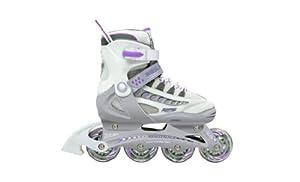 Roller Derby GIRLS Rocket MDX Adjustable Inline Skates. I-142G (Medium)