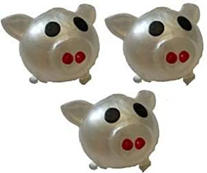 Squishy Toys That Splat : Amazon.com: Splat Ball Novelty Squishy Toy Silver Pig-Pack of 3: Toys & Games