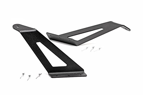Rough Country - 70515 - 50-inch Curved LED Light Bar Upper Windshield Mounting Brackets (Ford Super Duty) (Ford Mounting Bracket compare prices)