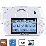 Portable MP5 Player Game Console with 4GB Camera FM(White)