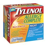 Buy Tylenol Allergy Complete Multi Symptom Cool Burst Caplets – 12 Day/ 12 Night