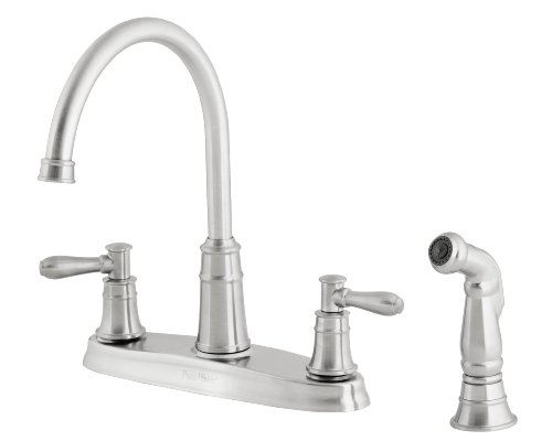 Pfister F036cl4s Harbor Double Handle High Arc 4 Hole Kitchen Faucet
