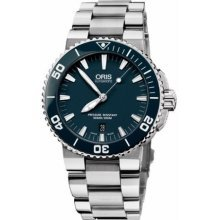 Oris Men's 73376534155MB Divers Stainless Steel Blue Dial Watch from Oris