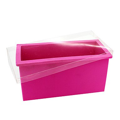 Fuchsia Rectangular Silicone Cake Mould with Lid