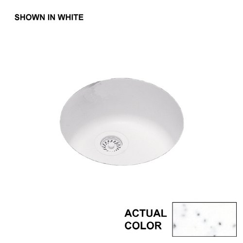 "Swanstone US00018RB.035 Solid Surface Kitchen Sink, Arctic Granite, 18.5"" x 18.5"""