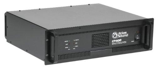 Atlas Sound Cp400 Power Amplifier, 200 Watts Per Channel, 70 Volts 240 Watts, 4 Ohm