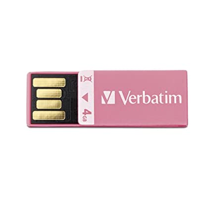 Verbatim 4 GB Clip-IT USB 2.0 Flash Drive, Pink 97549