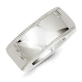 Genuine IceCarats Designer Jewelry Gift Ss 10Mm Millgrain Comfort Fit Band Size 12.00