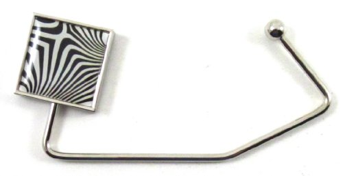 Zebra Print Square Purse Hook front-1047853