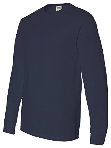 4930 - Large - Navy 5.6 Oz Cotton Long-Sleeve T-Shirt