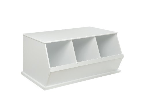Lowest Price! Badger Basket Three Bin Storage Cubby - White