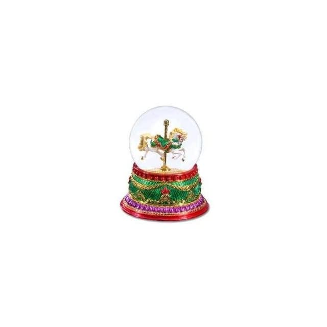 San Francisco Music Box Company   Bejeweled Carousel Waterglobe Toyland