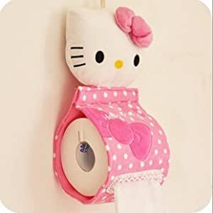 Hello Kitty Style Soft Plush Hanging Roll